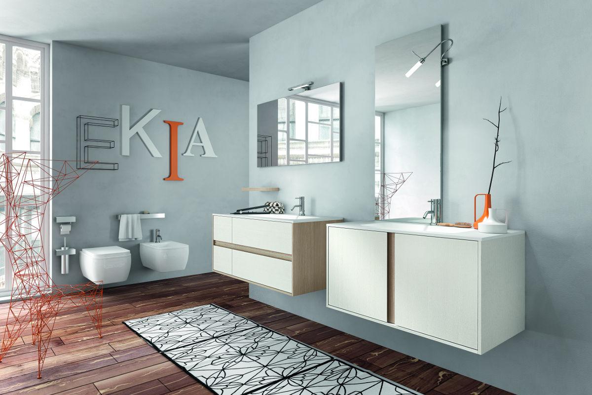 Arredo bagno in rovere con cloe di edon - Agora mobili bagno ...