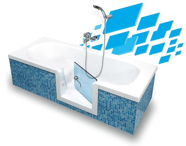 Vasche con sportello per anziani e disabili: più sicurezza in bagno