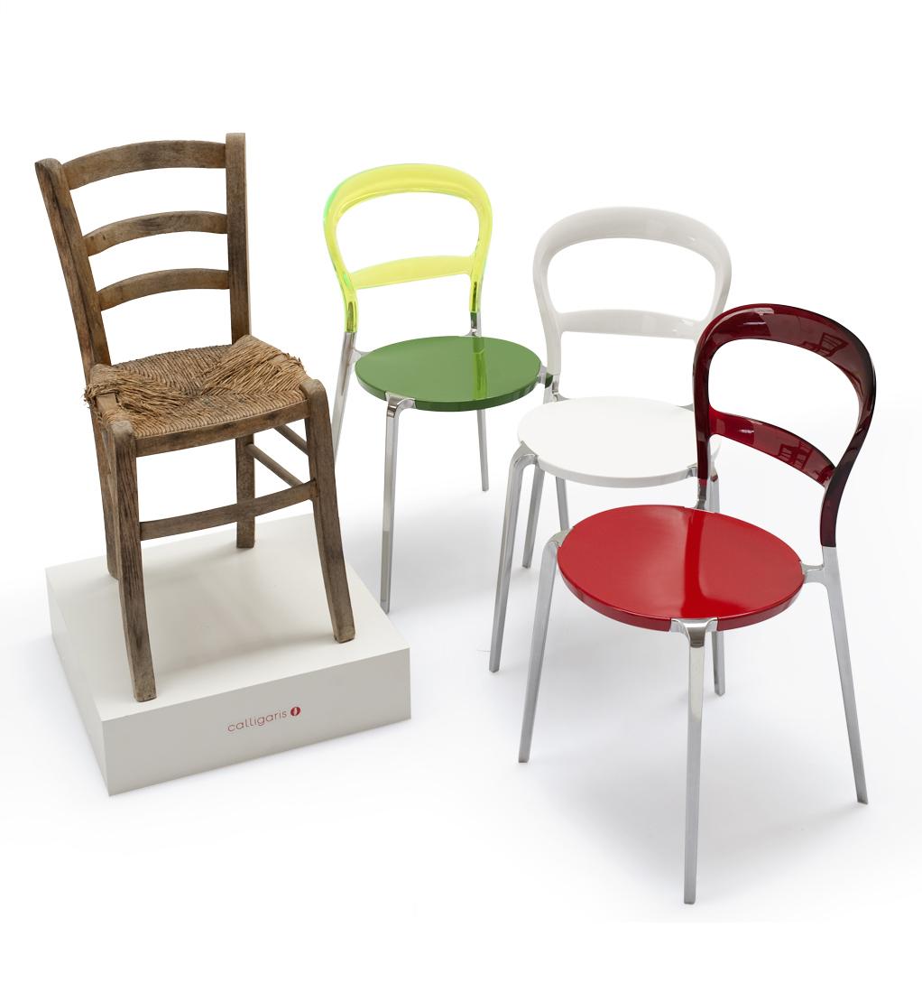 Calligaris celebra l unit d italia con una inedita sedia wien - Sedia cream calligaris ...
