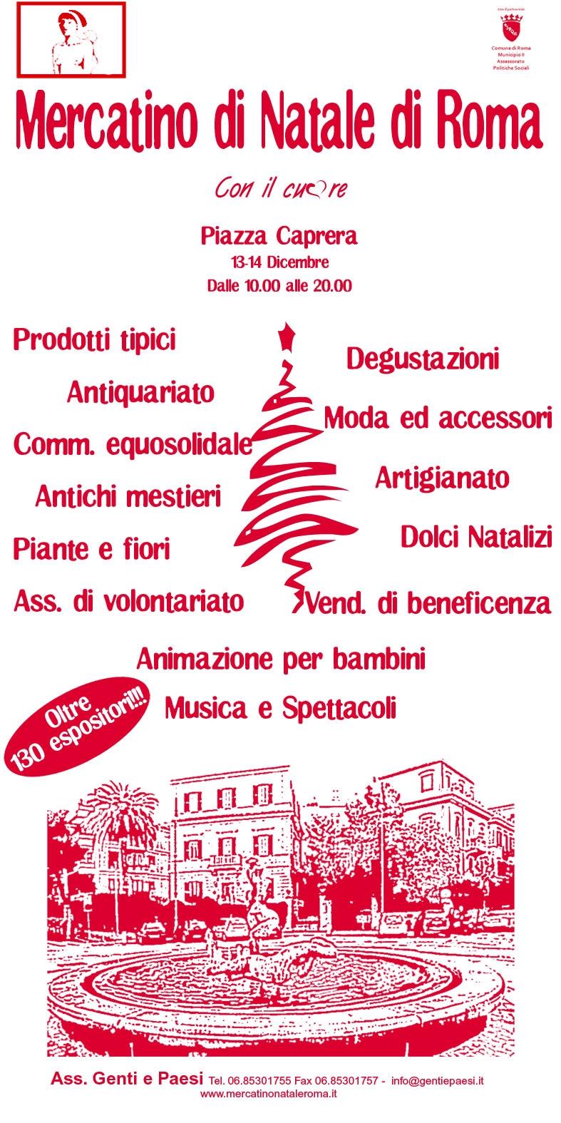 Mercatino di natale a piazza caprera for Il mercatino roma