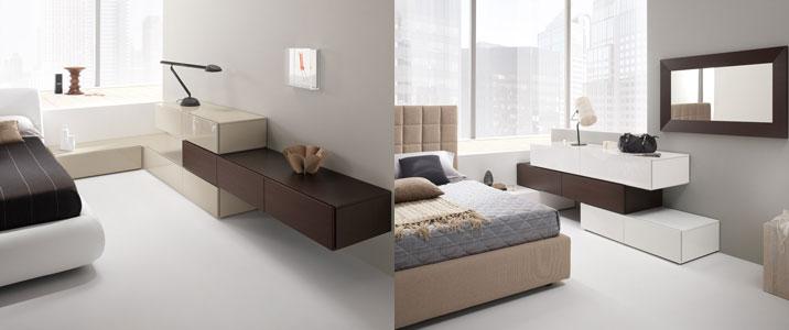 Infinite soluzioni per la camera da letto linea exential - Mobili sospesi per camera da letto ...