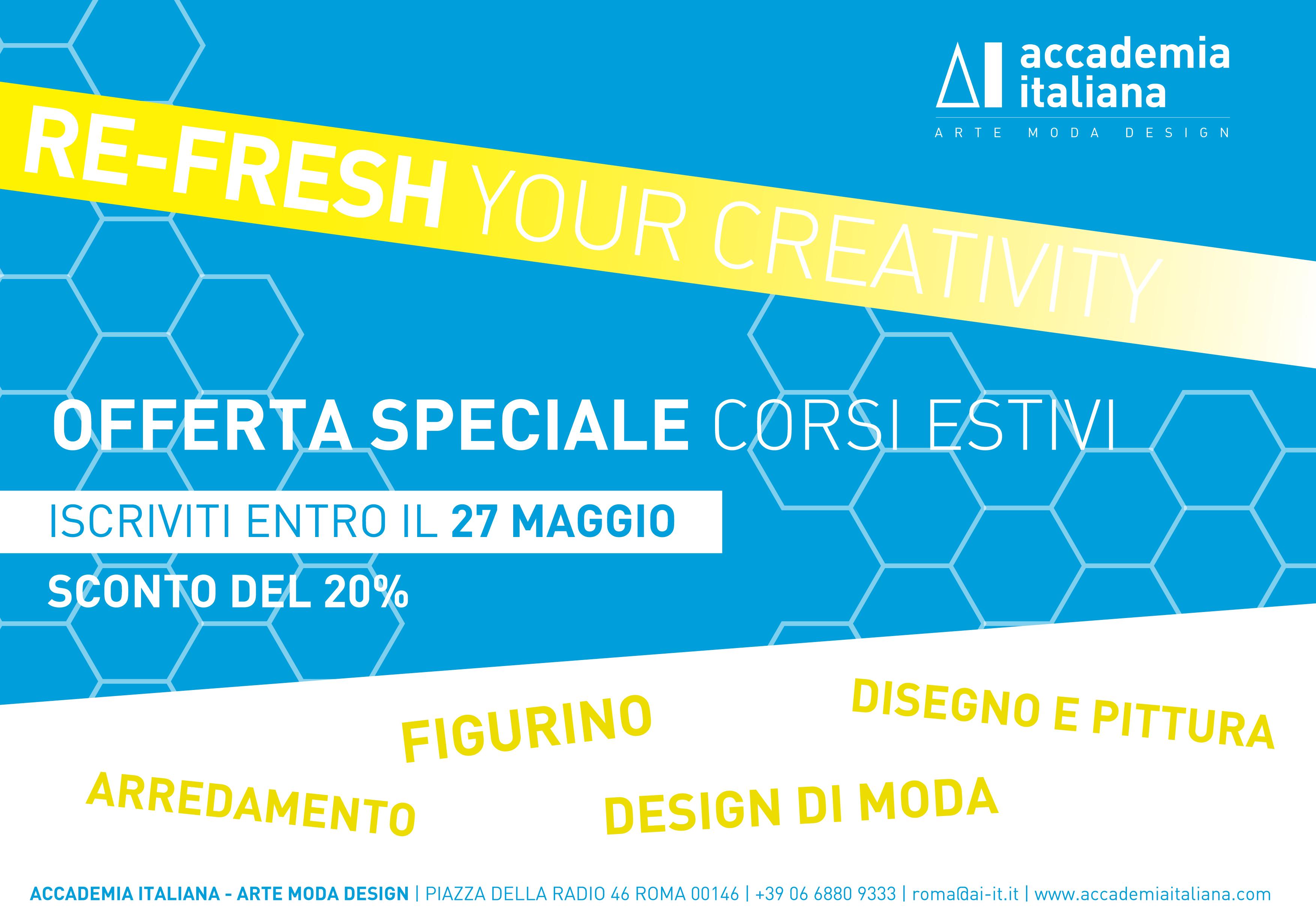 Corsi estivi disegno e pittura moda arredamento for Corsi design roma