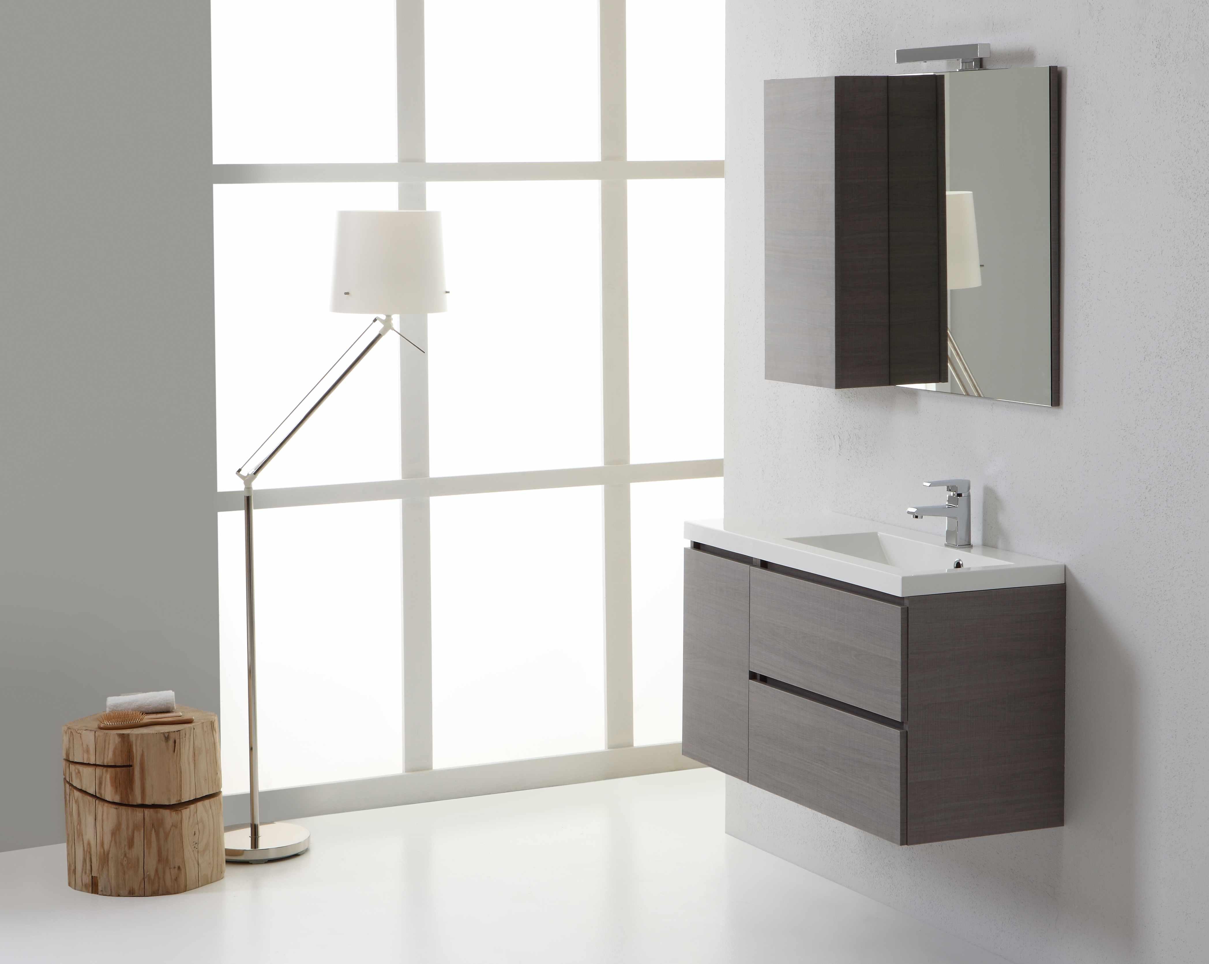 Lo stile minimal di manhattan nell 39 arredo bagno - Mobiletto bagno ...